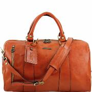 Travel Leather Duffle Bag -Tuscany Leather-