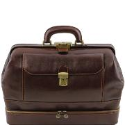 Leather Doctor Bag Dark Brown - Tuscany Leather -