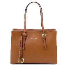 Leather Shoulder Bag for Women Honey  - Tuscany Leather -