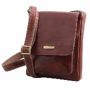 Leather Cross Body Bag for Men New Collection Black - TUSCANY LEATHER -
