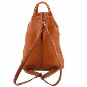 Lether Backpack Black for Woman - Tuscany Leather -