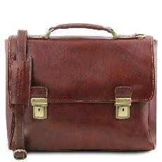 Leather Laptop Case Brown - Tuscany Leather -