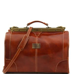 Vintage Leather Travel Bag Honey  - Tuscany Leather –