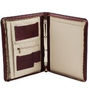 Leather Document Case Brown -Tuscany Leather-