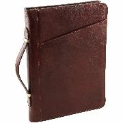 Leather Document Case Brown Claudio -Tuscany Leather-