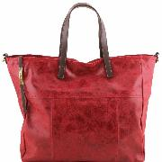 Leather Aged Effect Large Bag for Women - Tuscany Leather -