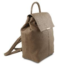 Soft Leather Backpack for Women Taupe - Tuscany Leather -