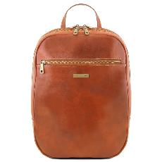 Leather Laptop Backpack Honey - Tuscany Leather -