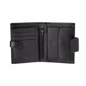 Leather Wallet with Multiple Pockets Black -Dudubags-
