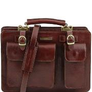 Leather Lady Handbag Brown - Tuscany Leather -