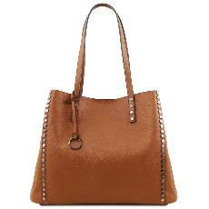 Soft Leather Shopping Bag for Women - Tuscany Leather -