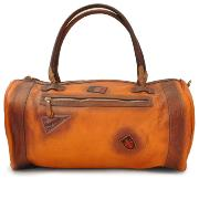 Leather Travel Bag for Men Camel- Pratesi -