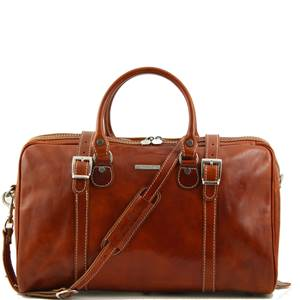 Travel Leather Duffle Bag Berlin - Tuscany Leather -