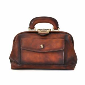 Leather Vintage Style Doctor Bag for Women Brown -Pratesi-