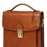 Leather Cross body Bag for Men 3 Compartments David Brown -Tuscany Leather-