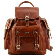 Leather Backpack Vintage Pechino Honey -Tuscany Leather-