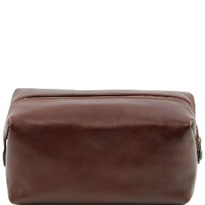 Leather Toilet Bag Large Model Brown-Tuscany Leather-