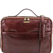 Leather Laptop Briefcase Brown - Tuscany Leather –