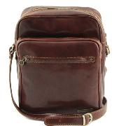 Leather Cross Body Bag for Men Brown - Tuscany Leather -